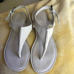 Frye white flat sandals